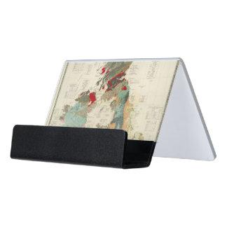 Mapa geológico, paleontológico compuesto caja de tarjetas de visita para escritorio