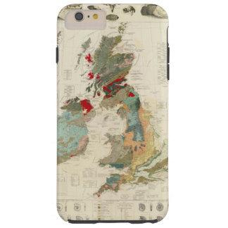 Mapa geológico, paleontológico compuesto funda para iPhone 6 plus tough