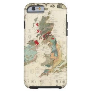 Mapa geológico, paleontológico compuesto funda para iPhone 6 tough