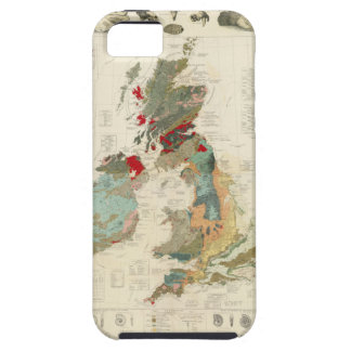 Mapa geológico, paleontológico compuesto iPhone 5 funda