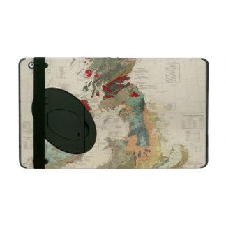 Mapa geológico, paleontológico compuesto iPad cárcasa