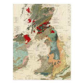Mapa geológico, paleontológico compuesto postales