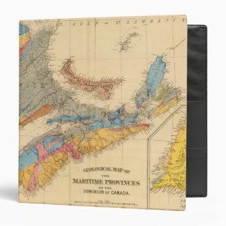 Mapa geológico, provincias marítimas