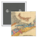 Mapa geológico, provincias marítimas pin cuadrada 5 cm