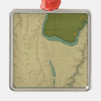 Mapa geológico que muestra el Kanab Adorno Navideño Cuadrado De Metal
