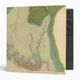 """Mapa geológico que muestra el Kanab Carpeta 1 1/2"""""""