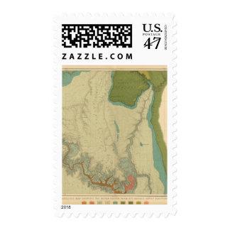 Mapa geológico que muestra el Kanab Estampilla