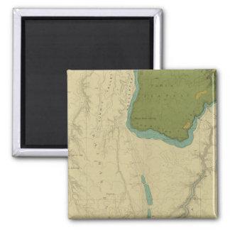 Mapa geológico que muestra el Kanab Imán Cuadrado