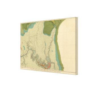 Mapa geológico que muestra el Kanab Impresión En Lienzo