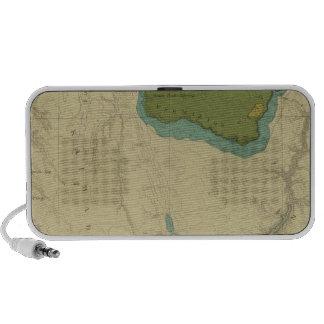 Mapa geológico que muestra el Kanab Laptop Altavoz