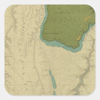 Mapa geológico que muestra el Kanab Pegatina Cuadrada