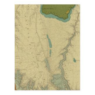 Mapa geológico que muestra el Kanab Postales