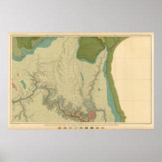 Mapa geológico que muestra el Kanab Póster