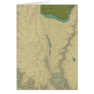 Mapa geológico que muestra el Kanab Tarjeta De Felicitación