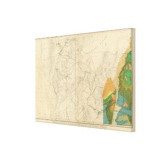 Mapa geológico que muestra la porción occidental d lona envuelta para galerías