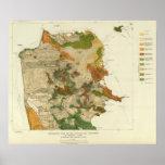 Mapa geológico San Francisco Póster