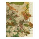 Mapa geológico San Francisco Tarjetas Postales