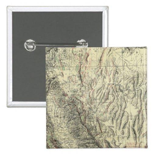 Mapa Geomorphic, California, Nevada Pin
