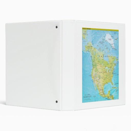 Mapa geopolítico de Norteamérica