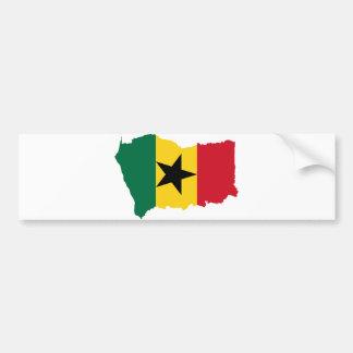Mapa GH de la bandera de Ghana Pegatina Para Auto