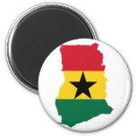 Mapa GH de la bandera de Ghana Imanes Para Frigoríficos