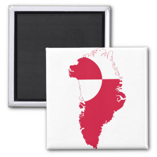 Mapa GL de la bandera de Groenlandia Imán Cuadrado