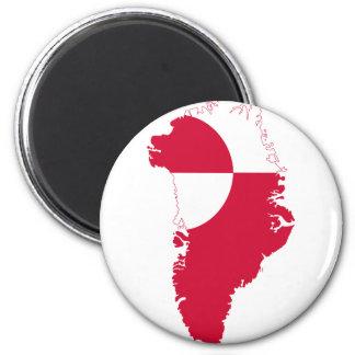 Mapa GL de la bandera de Groenlandia Imán Redondo 5 Cm
