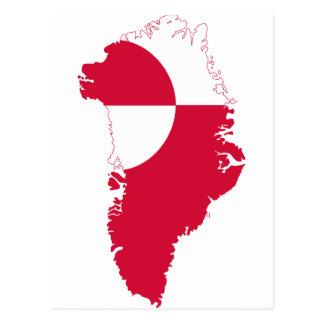 Mapa GL de la bandera de Groenlandia Postal