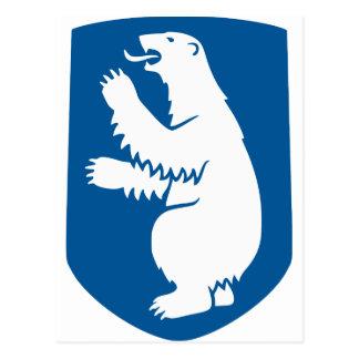 Mapa GL de la bandera de Groenlandia Postales