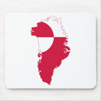 Mapa GL de la bandera de Groenlandia Alfombrillas De Ratones