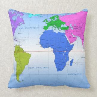 Mapa global 2 cojín