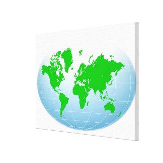 Mapa global 2 impresión en lona estirada