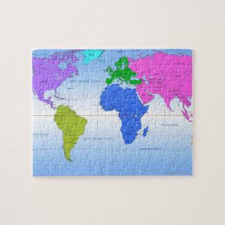 Mapa global 2 puzzles con fotos