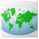 Mapa global azulejos cerámicos