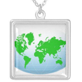Mapa global colgante cuadrado