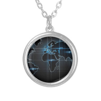 Mapa global colgante redondo