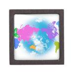Mapa global colorido cajas de regalo de calidad