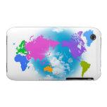 Mapa global colorido carcasa para iPhone 3