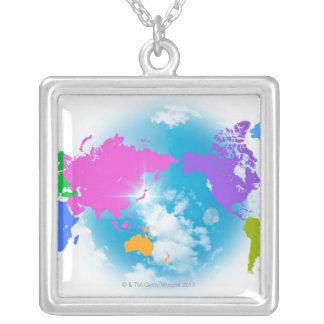 Mapa global colorido joyerias