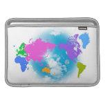Mapa global colorido fundas para macbook air