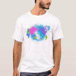 Mapa global colorido playera