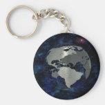 Mapa global del metal llavero personalizado