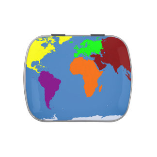 Mapa global frascos de dulces