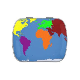 Mapa global jarrones de caramelos
