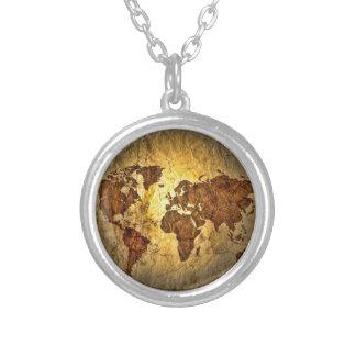 Mapa global lindo colgante redondo