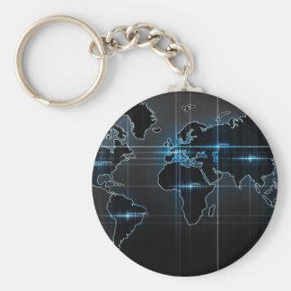 Mapa global llavero redondo tipo pin
