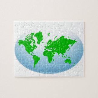 Mapa global rompecabezas
