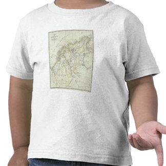 Mapa grabado de Colombia Camiseta