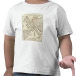 Mapa grabado de Europa Camisetas
