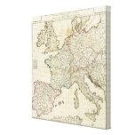 Mapa grabado de Europa Impresión En Lona